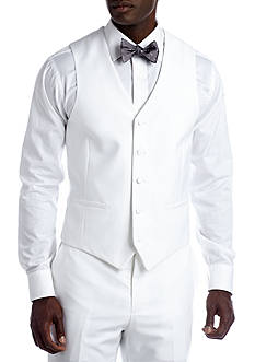 Savile Row Slim White Suit Separate Vest