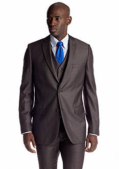 Savile Row Classic Fit Brown Stripe Suit Separate Coat