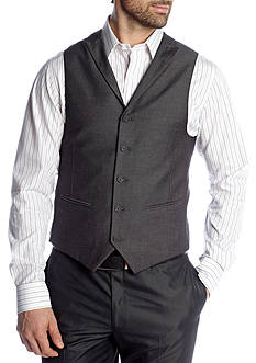 Savile Row Classic Fit Gray Sharkskin Suit Separate Vest