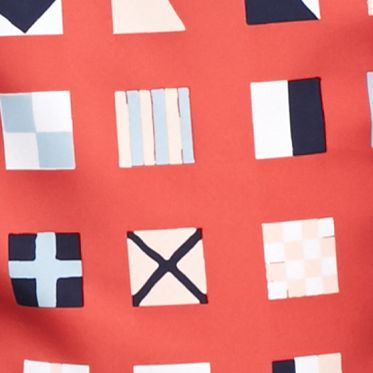 Men's Swim Trunks: Red Southern Proper Flags Swim Trunks