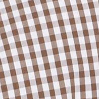 St Patricks Day Outfits For Men: Backroad Brown Southern Proper Gingham Goal Line Woven Shirt