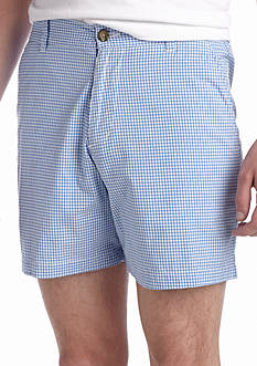 Southern Proper Duck Egg Gingham Shorts