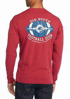 Southern Proper Long Sleeve Preppy & Football Graphic Tee