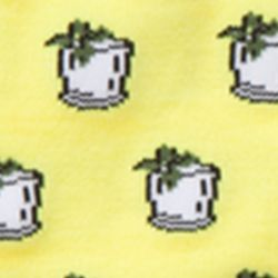 Mens Casual Socks: Yellow Mint Julep Southern Proper Southern Motif Socks