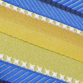 Steve Harvey Clothing: Gold Steve Harvey Extra Long Textured Stripe Tie and Pocket Square Set
