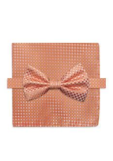 Steve Harvey Neat Solid Bow Tie & Pocket Square