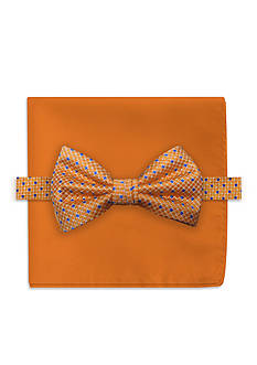 Steve Harvey Neat Bowtie and Solid Pocket Square