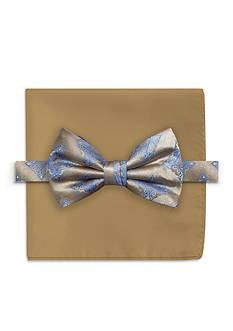 Steve Harvey Medallion Bow Tie and Solid Pocket Square