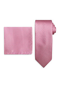 Steve Harvey Solid Tie & Neat Pocket Square