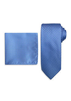 Steve Harvey Extra Long Solid Tie and Neat Pocket Square