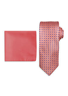 Steve Harvey Neats Tie and Solid Pocket Square