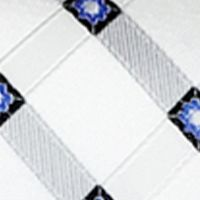 Steve Harvey® Men Sale: White Steve Harvey Satin Grid Tie & Brocade Pocket Square