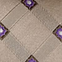 Steve Harvey® Men Sale: Tan/Khaki Steve Harvey Satin Grid Tie & Brocade Pocket Square