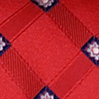 Steve Harvey® Men Sale: Red Steve Harvey Satin Grid Tie & Brocade Pocket Square
