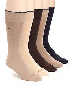 Tommy Hilfiger Flat Knit Crew Socks - 5 Pack