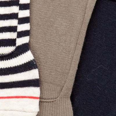Designer Socks for Men: Assorted Tommy Hilfiger 3-Pack Liner Socks