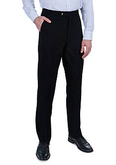 Sansabelt Grant Bengaline Pants with Flat Front and Side Pockets
