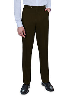 Sansabelt Grant Sharkskin Pants with Flat Front and Side Pockets