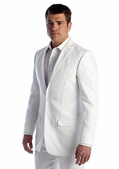 Ocean & Coast Classic Fit White Linen Jacket