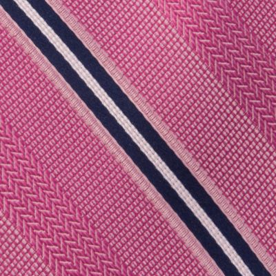 Young Mens Neckties: Pink MICHAEL Michael Kors Chevron Stripe Tie