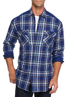 Saddlebred Flannel Shirt Jacket With Contrast Yoke