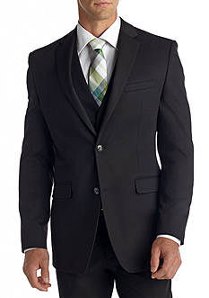 Perry Ellis Portfolio Slim-Fit Black Textured Suit Separate Jacket