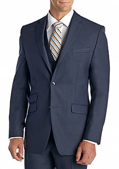 Perry Ellis Portfolio Slim Fit Blue Shark Suit Separate Jacket