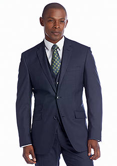Perry Ellis Portfolio Classic Fit Grey Sharkskin Suit Separate Coat