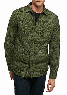 Red Camel Faded Aztec Sherpa Shirt-Jacket
