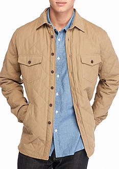 Red Camel Quilted Canvas Shirt Jacket