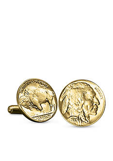 American Coin Treasures Gold-Layered Buffalo Nickel Cufflinks
