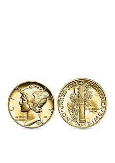 American Coin Treasures Gold Layered Mercury Dime Cufflinks