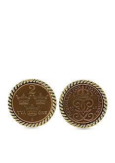 American Coin Treasures Swedish Coin Ore Crown Cufflinks