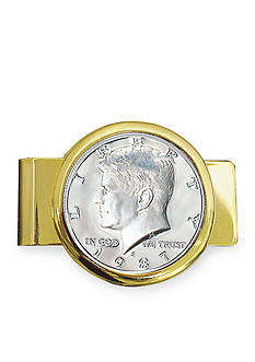 American Coin Treasures Proof JFK Half Dollar Gold Tone Money Clip
