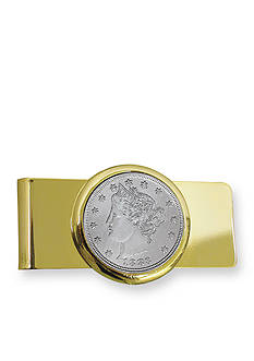 American Coin Treasures 1883 First Year of Issue Liberty Nickel Gold Tone Money Clip