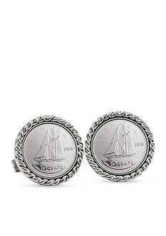 American Coin Treasures Canada Ship Coin Cufflinks