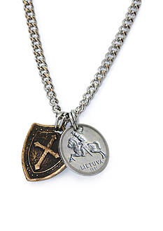 American Coin Treasures Horse and Shield Men's Necklace