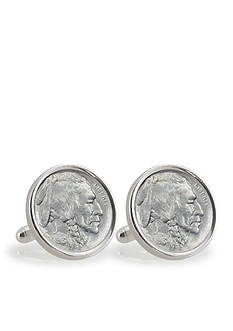 American Coin Treasures 1913 First Year of Issue Buffalo Nickel Sterling Silver Cufflinks