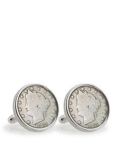 American Coin Treasures Liberty Sterling Silver Cufflinks