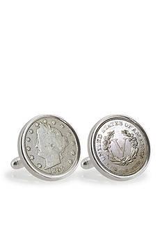 American Coin Treasures 1800's Liberty Nickel Sterling Silver Cufflinks