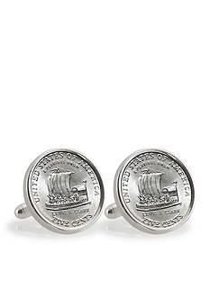 American Coin Treasures 2004 Keelboat Sterling Silver Cufflinks