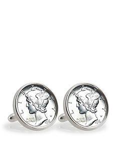 American Coin Treasures Silver Mercury Dime Sterling Silver Cufflinks