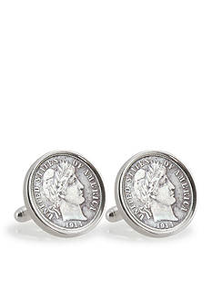 American Coin Treasures Silver Barber Dime Sterling Silver Cufflinks