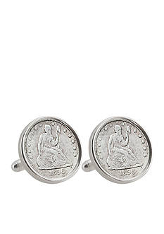 American Coin Treasures Seated Liberty Silver Dime Sterling Silver Cufflinks