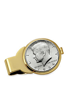American Coin Treasures JFK 1964 First Year of Issue Half Dollar Gold-Tone Money Clip