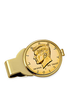 American Coin Treasures Gold-Layered JFK Half Dollar Money Clip
