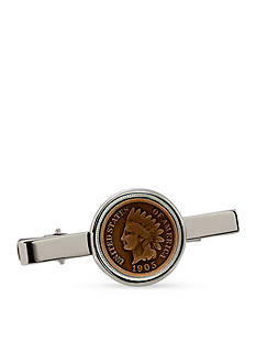 American Coin Treasures Indian Penny Silver-Tone Tie Bar
