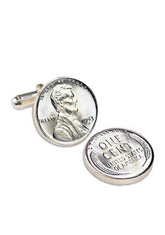 American Coin Treasures 1943 Lincoln Steel Penny Cufflinks