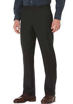Perry Ellis Flat-Front Solid Suit Pants