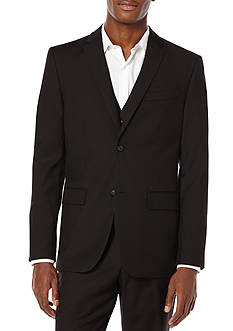 Perry Ellis Sharkskin Solid Suit Jacket